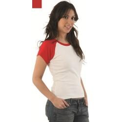 Camiseta de mujer VALENTO London Premium Ranglan Manga Corta